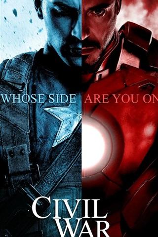iPhone Wallpaper Captain America: Civil War HD