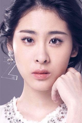 iPhone Papéis de Parede menina da música chinesa, Zhang Bichen 01