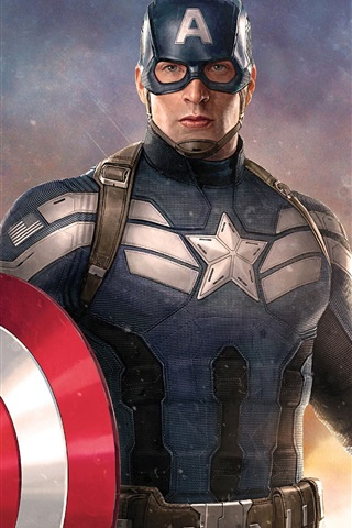 iPhone Wallpaper Chris Evans, Captain America: Civil War