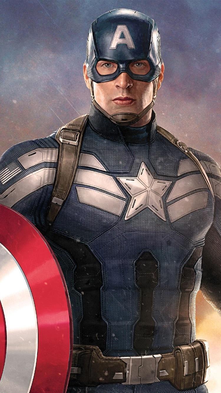 Поздравления, открытка с капитаном америкой