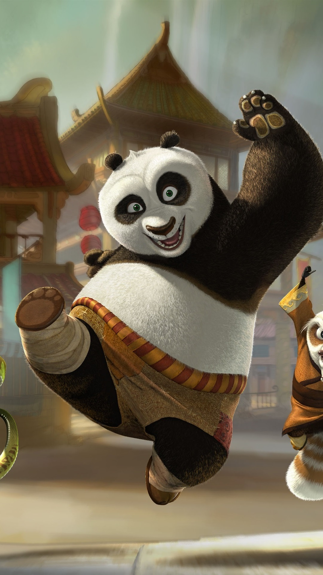 Kung Fu Panda 3 Happy Departure 1080x1920 Iphone 8 7 6 6s Plus