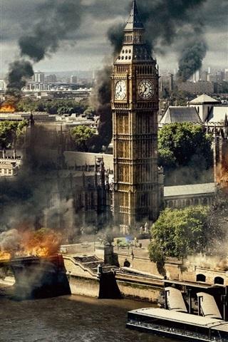 iPhone 壁纸 伦敦陷落,2016年的电影