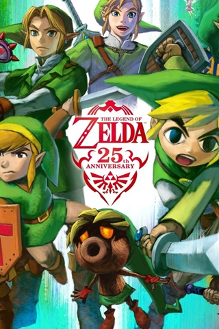 The Legend Of Zelda 25th Anniversary Rpg Game 640x1136 Iphone 55s