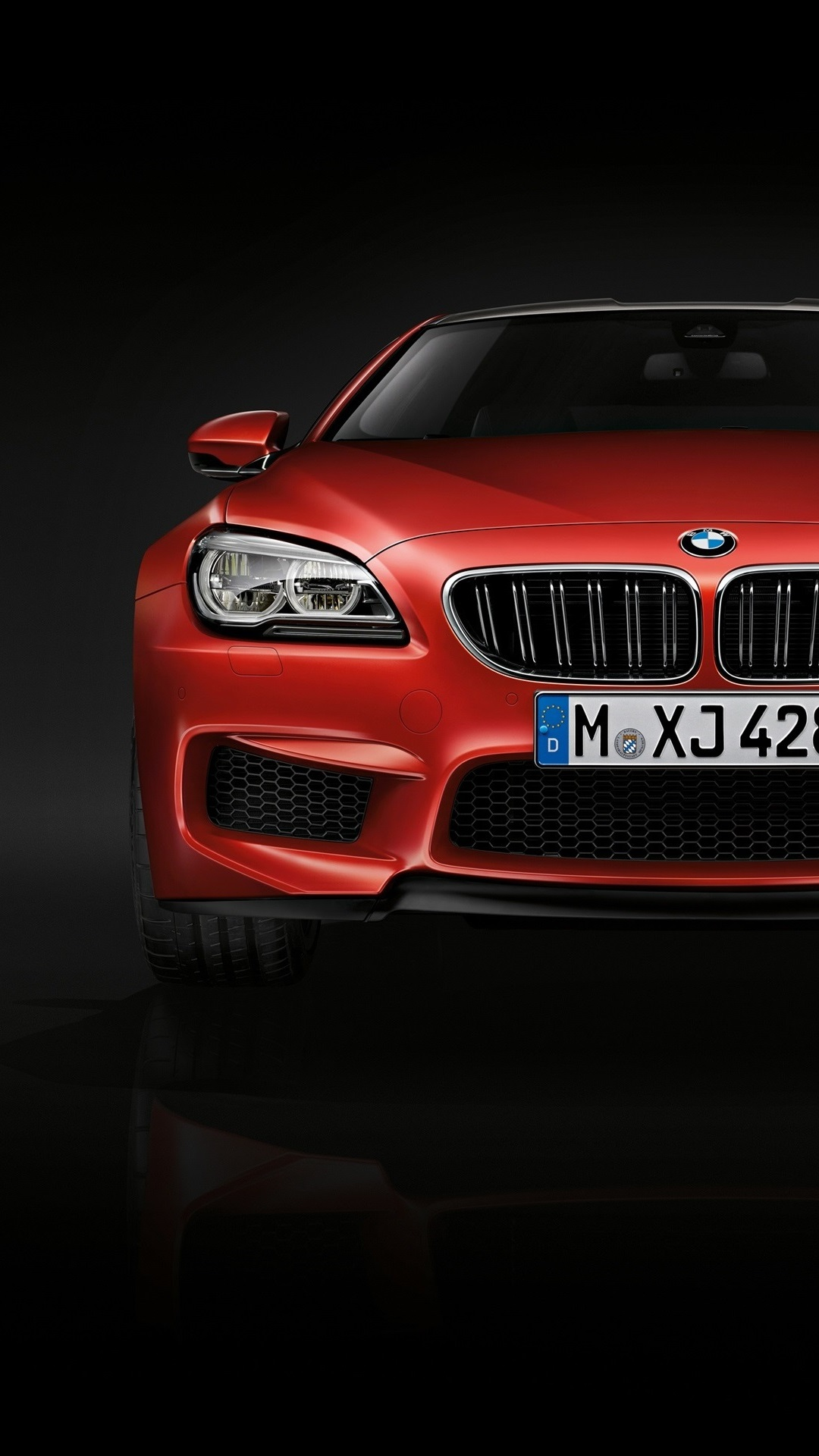 Wallpaper 2015 Bmw M6 Coupe F13 Red Car Front View 2560x1920 Hd Picture Image