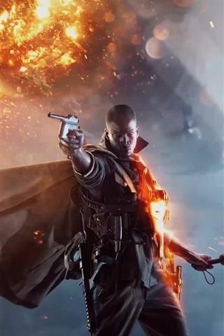 iPhone Papéis de Parede Battlefield 1, PC jogo de 2016