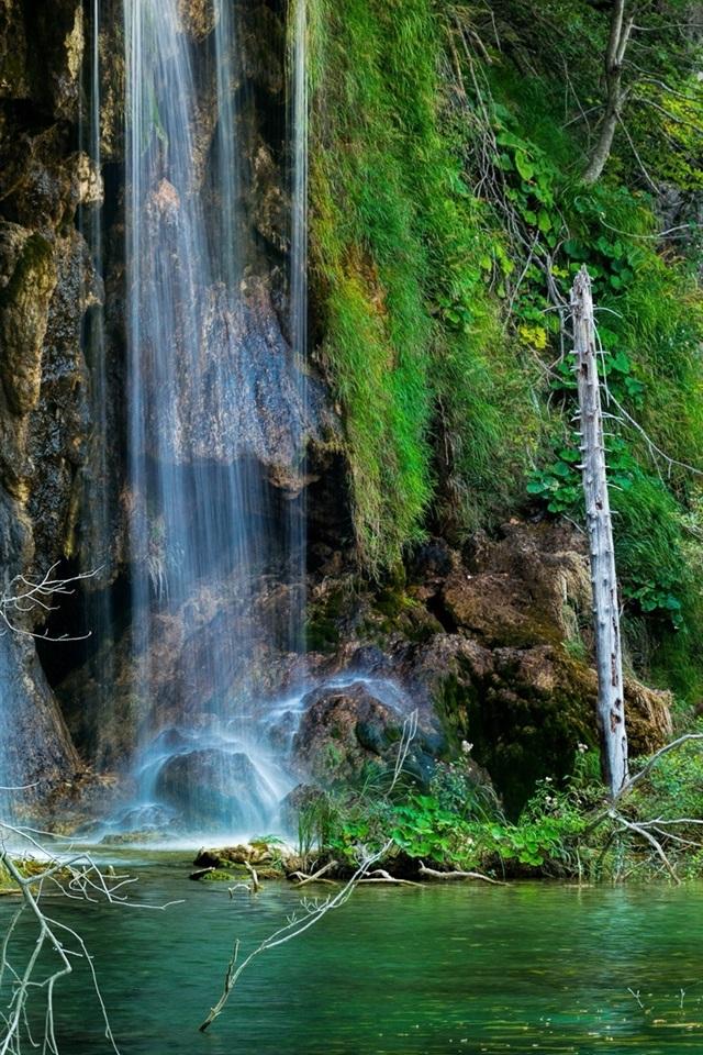 图片壁纸_壁纸 克罗地亚十六湖国家公园,瀑布,森林,湖泊 2560x1440 QHD ...