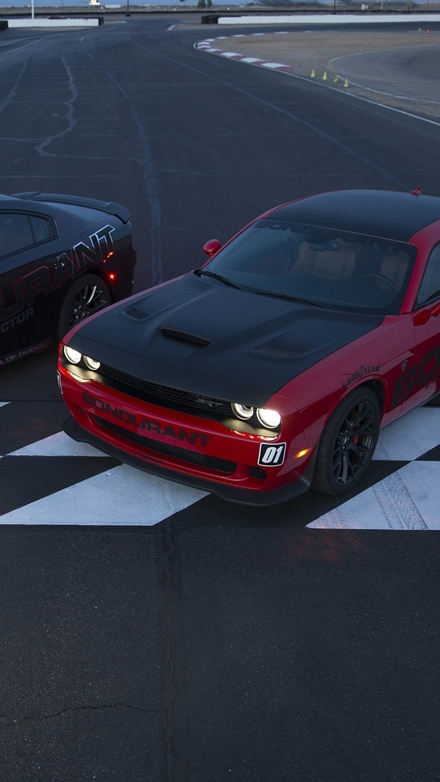 Dodge Challenger Srt Cars Two Supercars 750x1334 Iphone 8 7 6 6s Wallpaper Background Picture Image