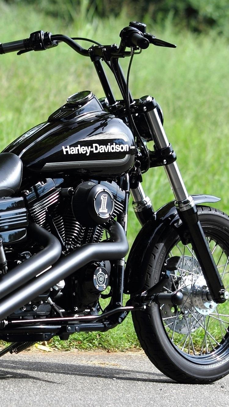壁紙 ハーレーダビッドソンチョッパー黒のオートバイ 2560x1600 Hd