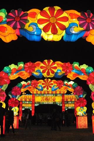 iPhone Wallpaper Lantern Festival in Suzhou, beautiful lampion