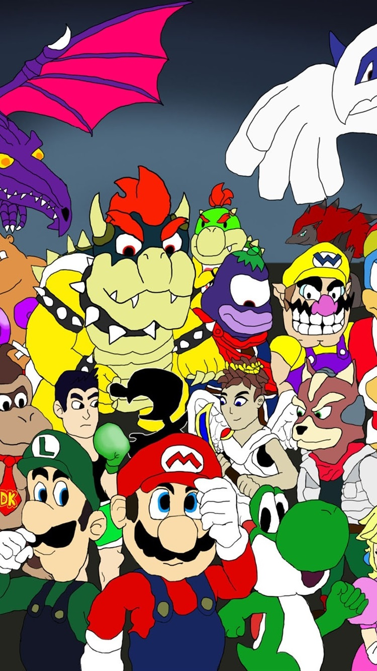 Nintendo Games Character Tribute 750x1334 Iphone 8766s