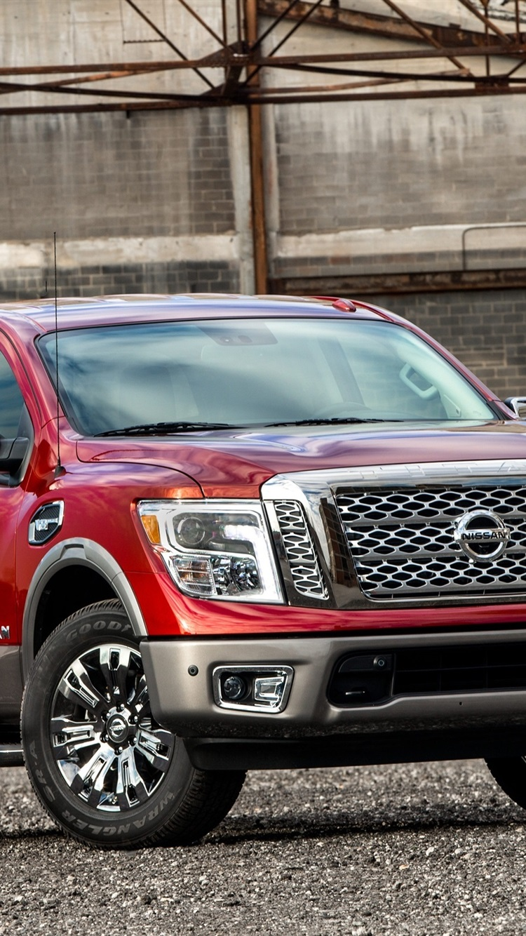 Nissan Titan Red Pickup 750x1334 Iphone 8 7 6 6s Wallpaper Background Picture Image