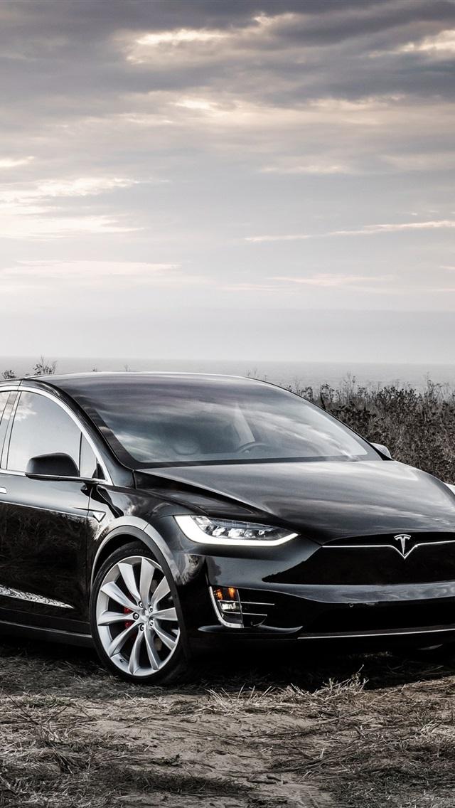 壁纸 特斯拉x型的黑色电动车 2560x1600 Hd 高清壁纸 图片 照片
