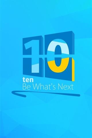 iPhone Wallpaper Windows 10 logo, creative background