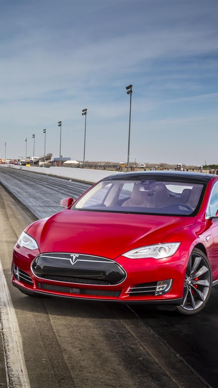 2015 Dodge Charger Srt Blue And Tesla Model S P85d Red Cars