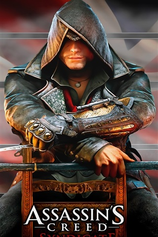 iPhone Wallpaper Assassin's Creed: Syndicate, killer sit on chair