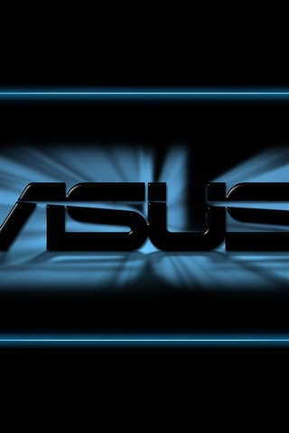 iPhone Papéis de Parede logotipo da Asus, fundo preto