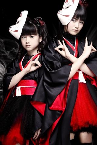 iPhone Wallpaper Babymetal, Japanese girls group 04