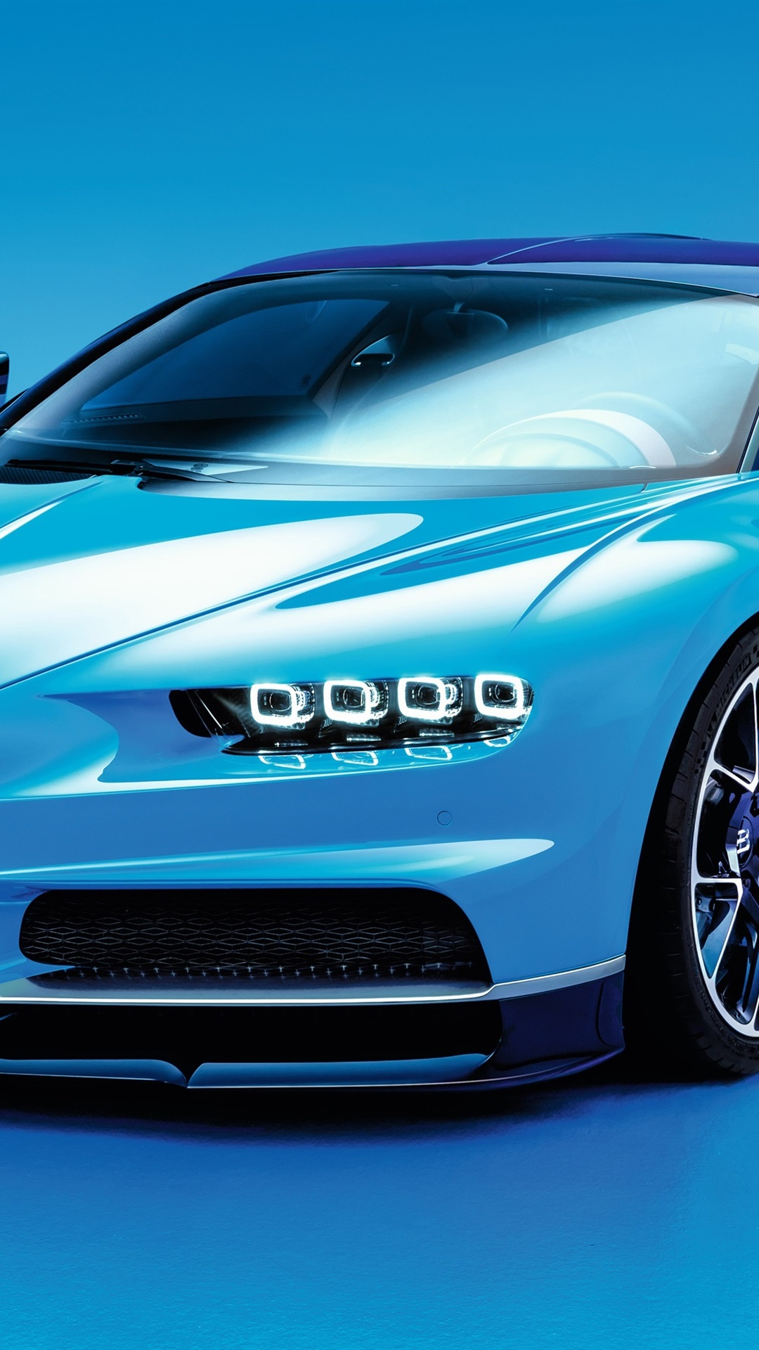 Bugatti Chiron Blue Supercar 1080x1920 Iphone 8 7 6 6s Plus Wallpaper Background Picture Image