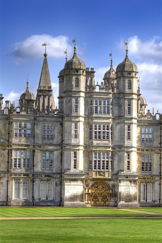 iPhone Wallpaper Burghley House, travel to England