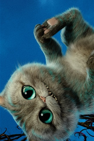 iPhone Wallpaper Cheshire Cat, Alice Through the Looking Glass 2016