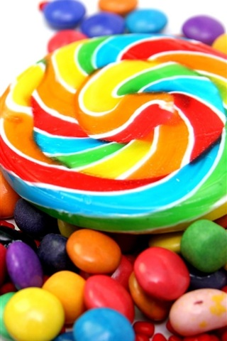 iPhone Wallpaper Colorful candy, sweet food