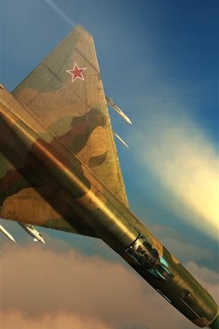 iPhone Papéis de Parede DCS Mundial, simulador de vôo, lutador multiuso MiG-21