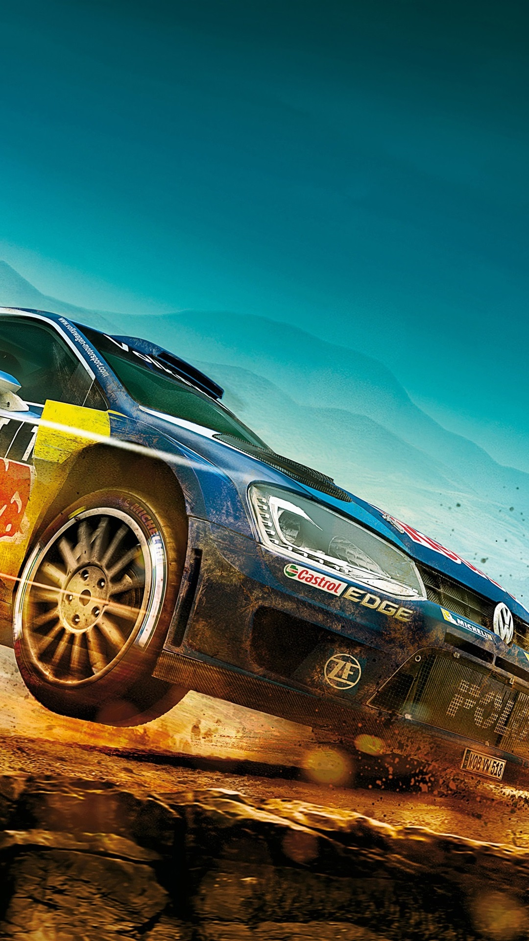 Dirt Rally Volkswagen Polo Car Sports Racing 1080x1920 Iphone 8 7