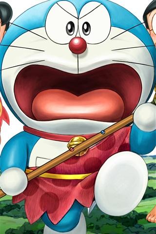 iPhone Wallpaper Doraemon, primitive