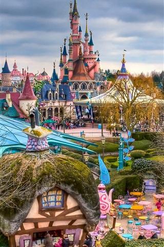 iPhone Wallpaper Fantasyland, Disneyland, Paris, France