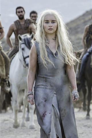 iPhone Wallpaper Game of Thrones, Season 6, Emilia Clarke