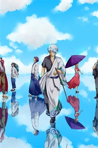 iPhone Wallpaper Gintama, Japanese anime