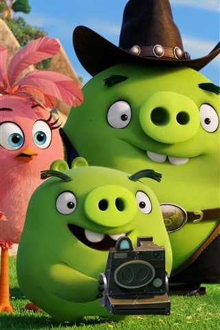iPhone Wallpaper Green pigs, Angry Birds movie
