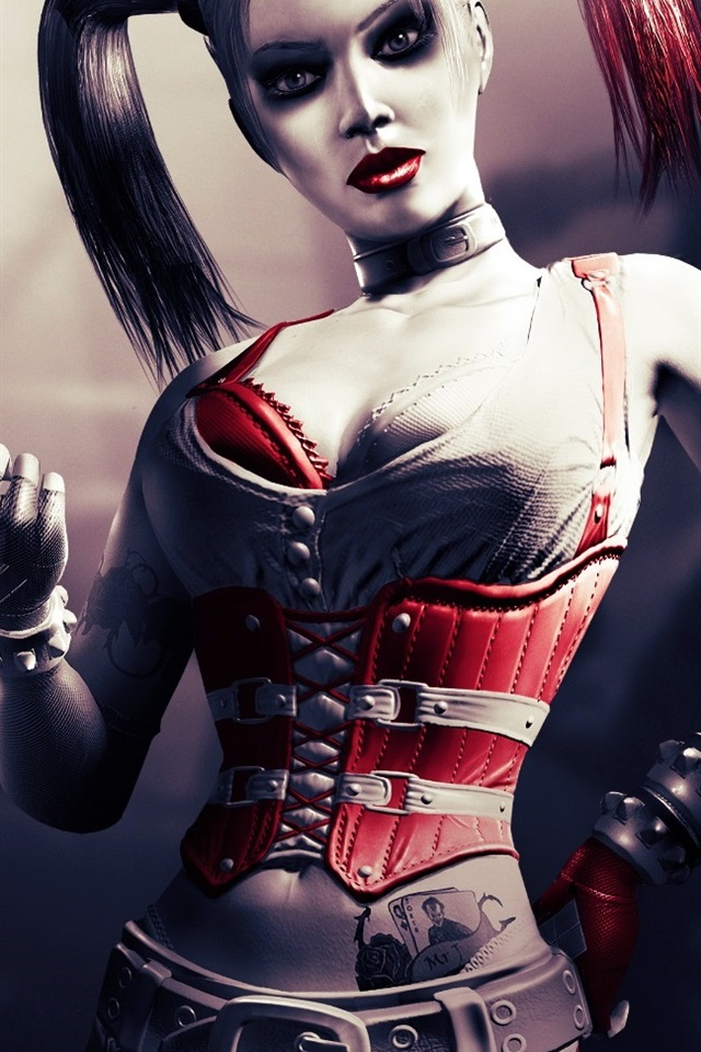 Harley Quinn In Batman Film 640x960 Iphone 4 4s