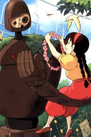 Hayao Miyazaki Studio Ghibli Robot Girl And Boy 750x1334