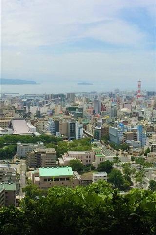 Kagoshima Shiroyama Park Top View The City Japan 640x1136