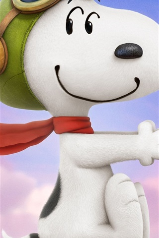 iPhone Wallpaper Lovely snoopy in the wind