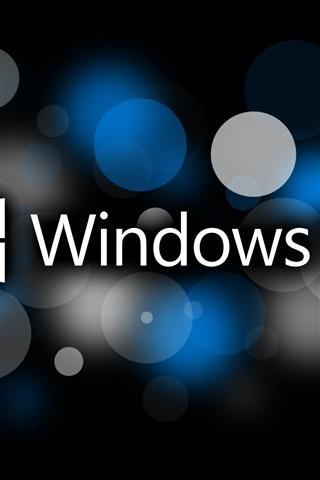iPhone Wallpaper Microsoft Windows 10 system logo, circles, creative design