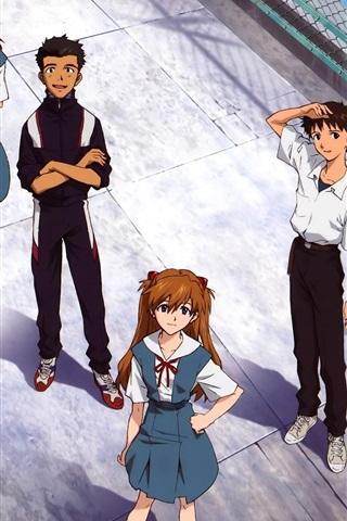 iPhone Wallpaper Neon Genesis Evangelion, classic anime