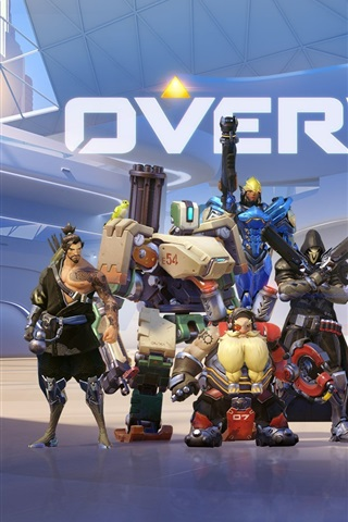 iPhone Wallpaper Overwatch, heroes