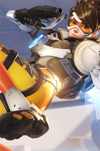 iPhone Wallpaper Overwatch, tracer, PC game