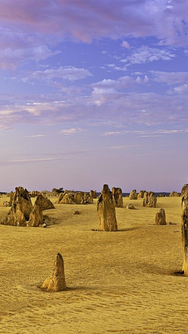 Pinnacles Limestone Western Australia Desert Clouds