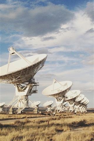 iPhone Wallpaper Radio Telescope array, New Mexico, United States