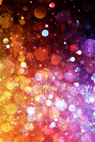 iPhone Wallpaper Rainbow colors, colorful lights, abstract pictures