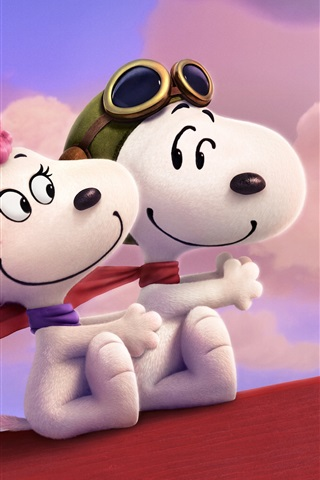 iPhone Wallpaper Snoopy and Fifi in the Paris