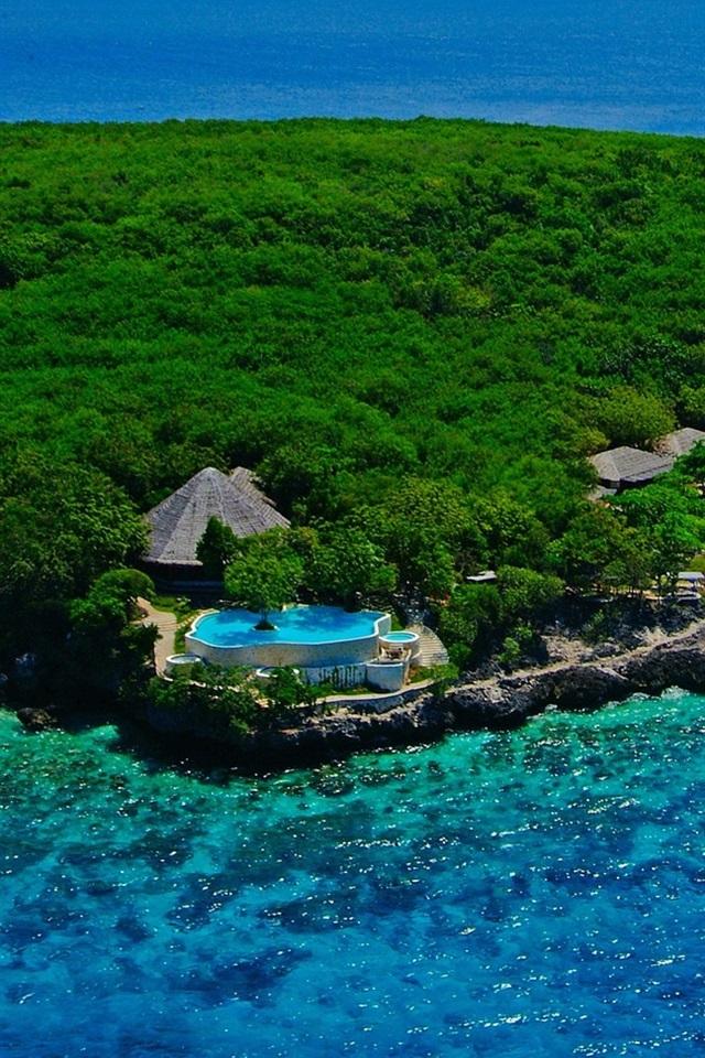 Wallpaper Sumilon Island Cebu Philippines Sea Forest