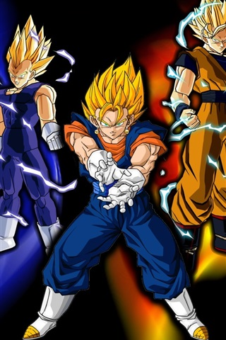 iPhone Wallpaper Super saiyan, Dragon Ball Z, cartoon anime