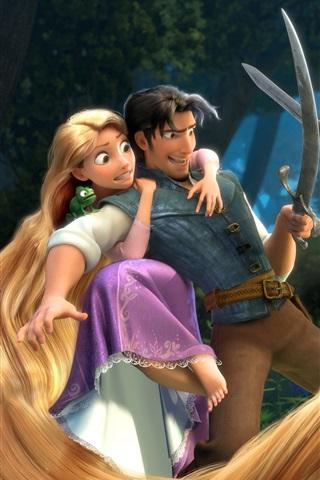 Wallpaper Tangled, Rapunzel, Disney cartoon movie ...