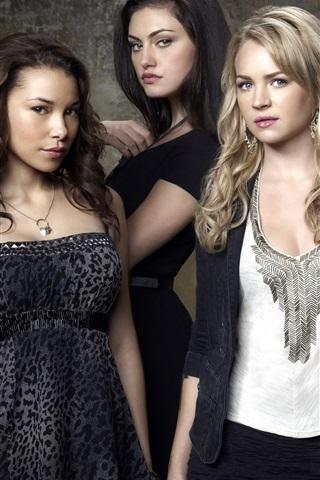 iPhone Hintergrundbilder The Secret Circle, vier Mädchen