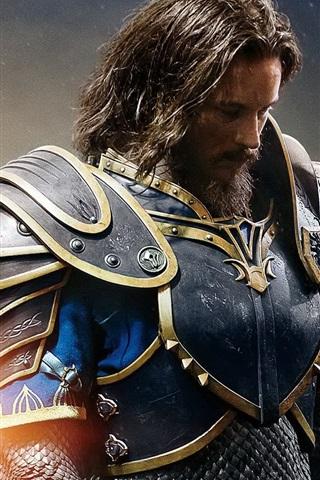 iPhone Wallpaper Travis Fimmel, Anduin Lothar, Warcraft 2016
