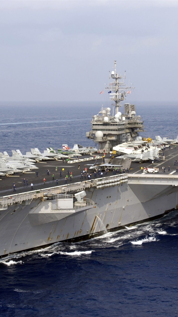 Wallpaper Us Navy American Aircraft Carrier Japan Maritime